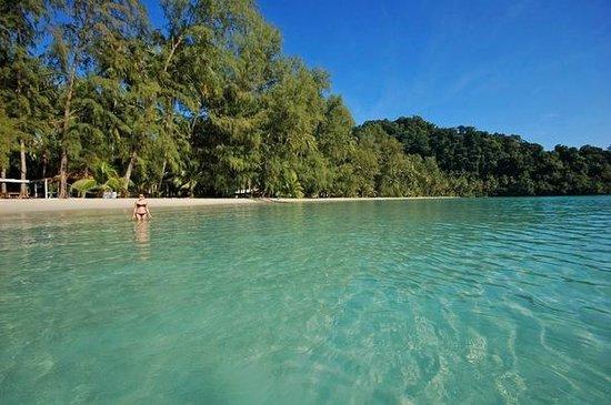 Koh Kood Neverland Beach Resort: Пляж днем