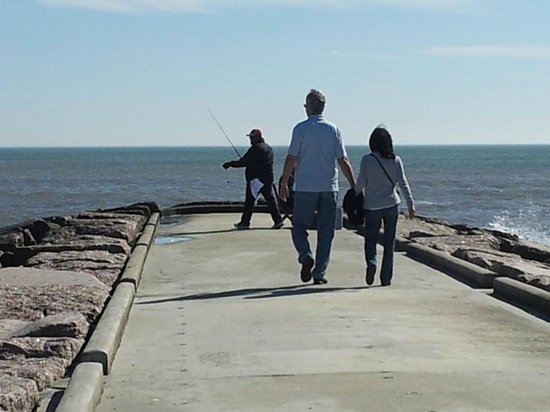 The Seawall : ride the bike to the end of one of the paved piers
