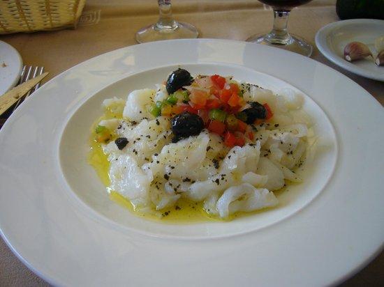 Restaurant Can Dolc: gedroogde kabeljauwfilet