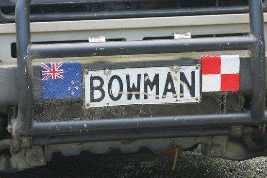 Coromandel Gold Stamper Battery: Number plate of Bowman