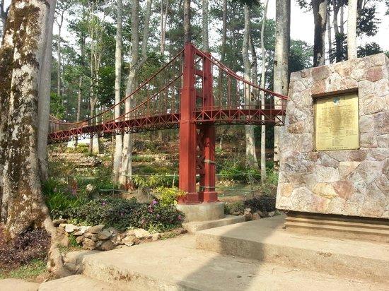 Golden Gate Bridge Replica Inside The Garden Cool Picture Of Botanical Garden Baguio