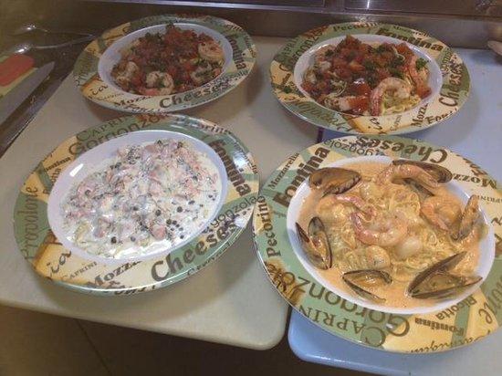 Salt N Pepper Bistro: Finished dishes, Pasta de la mer, Provencale, Norwegian.