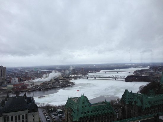 Ottawa Marriott Hotel : A view from the top of the hotel (revolving floor with panoramic views)