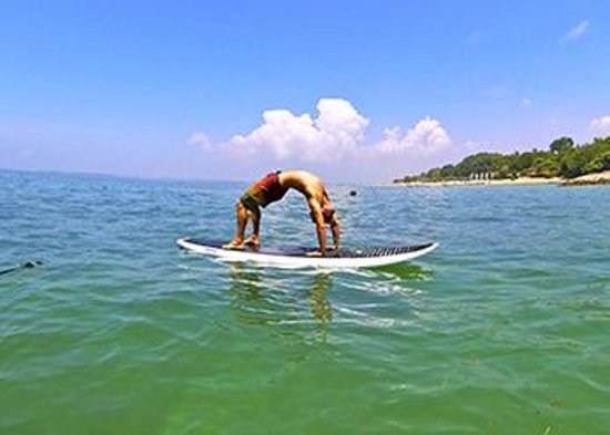 SUP Yoga Bali: Full Wheel