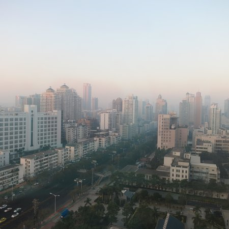 Kempinski Hotel Xiamen: View from bathroom window in the morning
