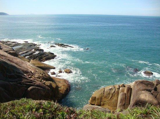 Ilha do Papagaio: Vista do outro lado da ilha de uma das trilhas