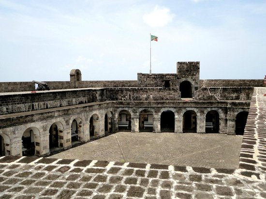 Brimstone Hill Fortress: Top of the fort