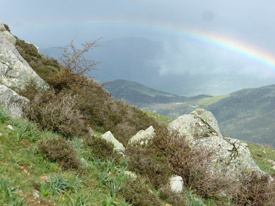 Parco delle Madonie : Regenbogen am Pizzo Russo