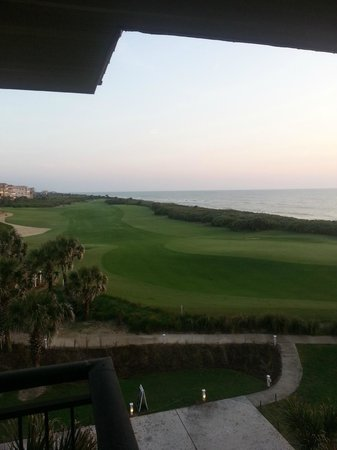 Hammock Beach Resort: View of 18th Green  from Balcony