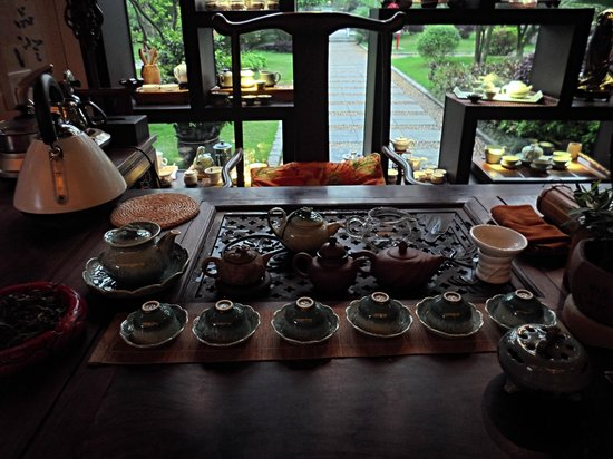 Guilinyi Royal Palace: Enjoying tea at the Teahouse