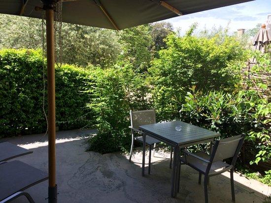 Domaine de Verchant : terrace of the suite