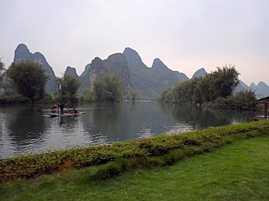 Yangshuo Mountain Retreat: View from breakfast tables