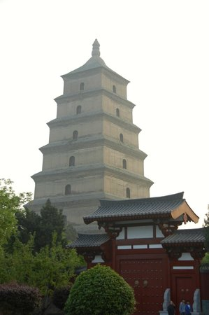 Tang Dynasty Art Garden Hotel: The hotel overlooked this pagoda