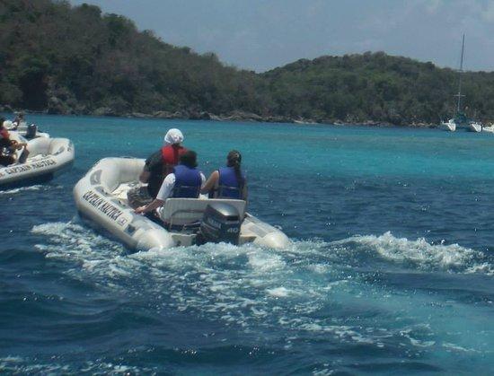Captain Nautica Screamin' Eagle & Mini Boat Adventures: Half the fun was driving the boats!
