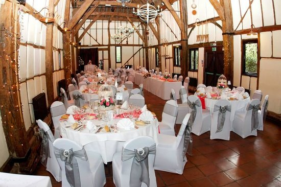 The Barns Hotel: Wedding Breakfast in the Tithe Barn