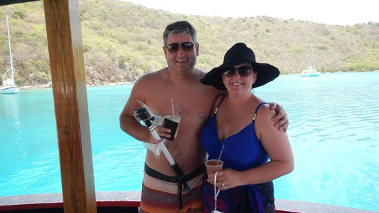 Palm Tree Charters: Wife & I aboard the Willy T for lunch