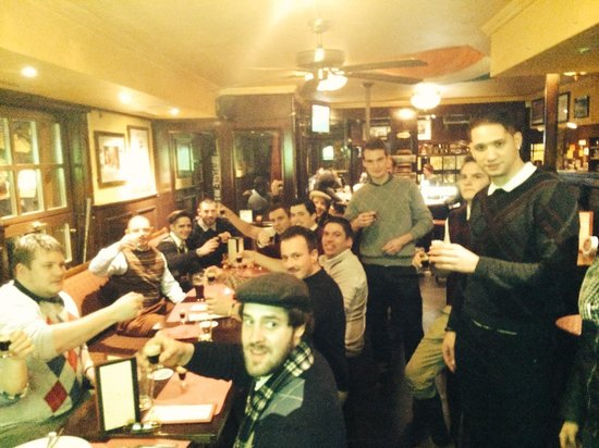 Shamrock Irish Pub: The Zurich Rugby Union Team on their night out as Golfers teeing off at the Shamrock
