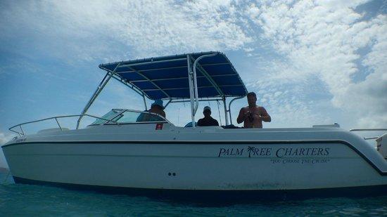 Palm Tree Charters: Me aboard Captain John's boat