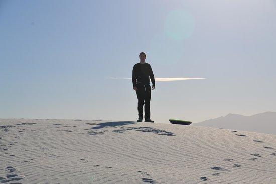 White Sands National Monument : ready for sledding