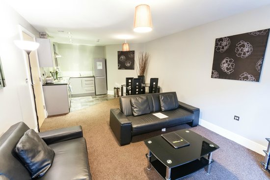 The City Warehouse Apartment Hotel 1 Bedroom Open Plan Living Area