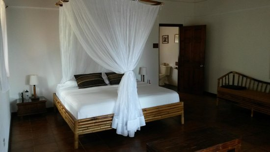 El Remanso Lodge: Large comfortable bed, the mosquito net wasn't necessary!