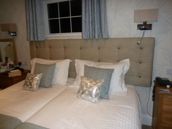 A bedroom at the Trelawne Hotel