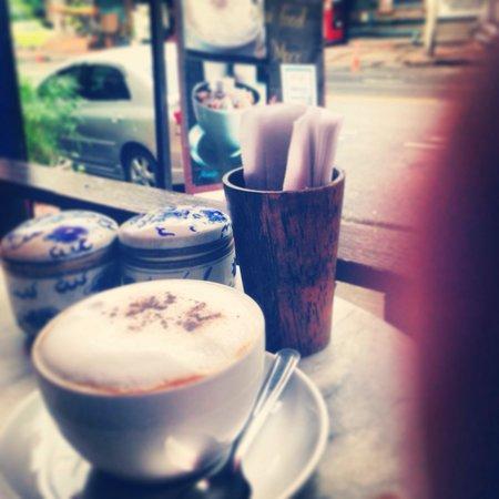 Riva Surya Bangkok: Cafe opposite