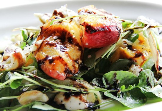 Fire + Wine: Grilled Peach Salad