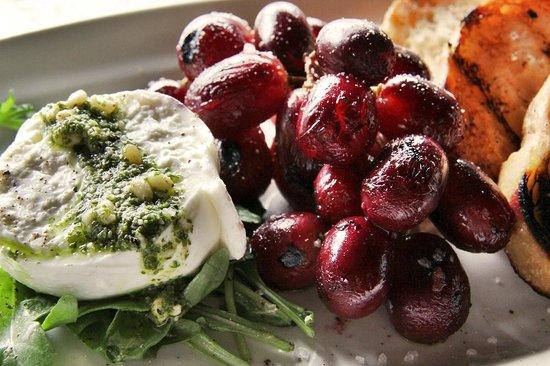 Fire + Wine: Burrata + Roasted Grapes