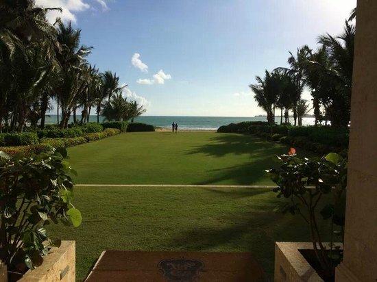 The St. Regis Bahia Beach Resort : Outside the main office facing the beach
