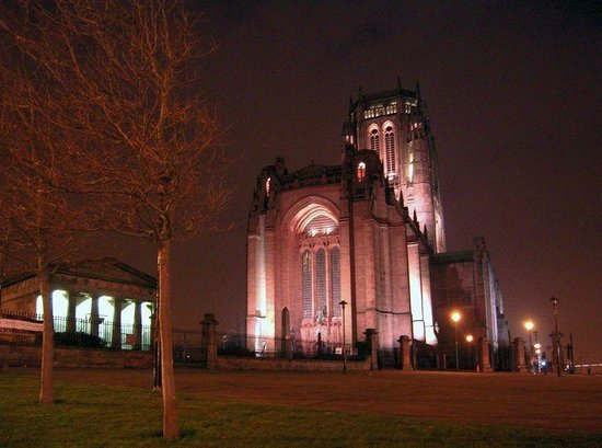 Liverpool cathedral at night