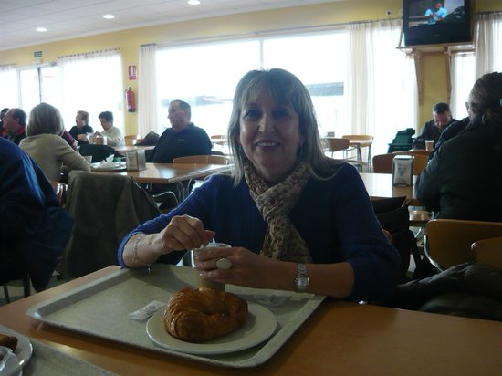 Hotel Oasis Plaza : desayunando nuestra amiga