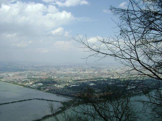 Kunming Dragon Gate : Vue sur Kunming depuis le Dragon Gate