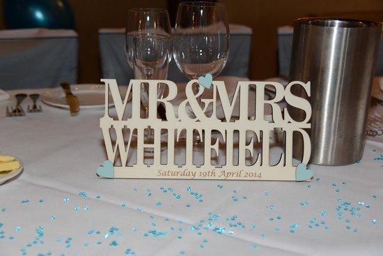 The Bell Inn: wedding breakfast room
