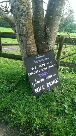 Three Horseshoes Donnington: Just don't bring your dog.....