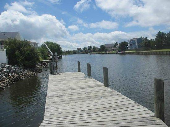 Sandbridge Dunes: boat dock and fishing area