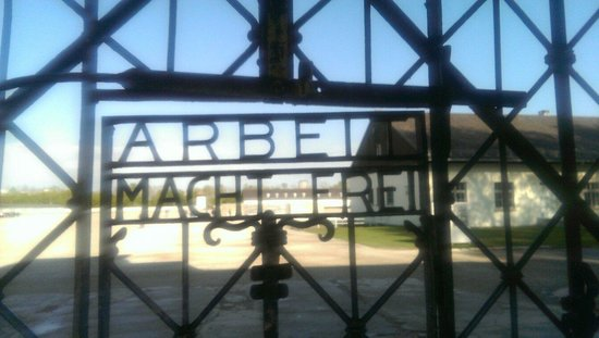 Dachau Concentration Camp Memorial Site: Chilling words.