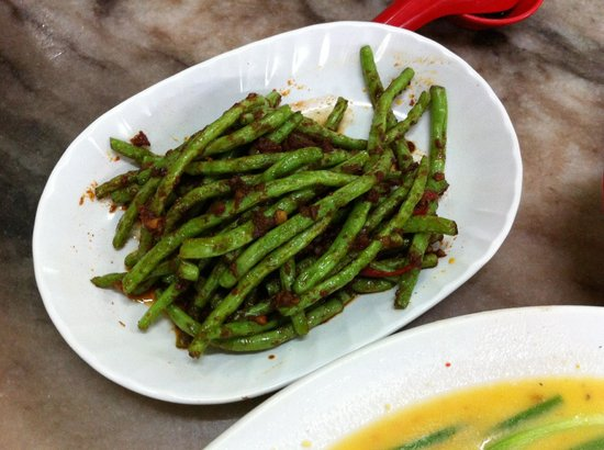 Restoran Tong Sheng: Beans with Dried Shrimp and Belacan