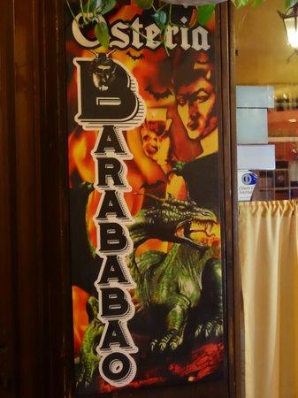 Bacaro Osteria Barababao: гигантская визитка