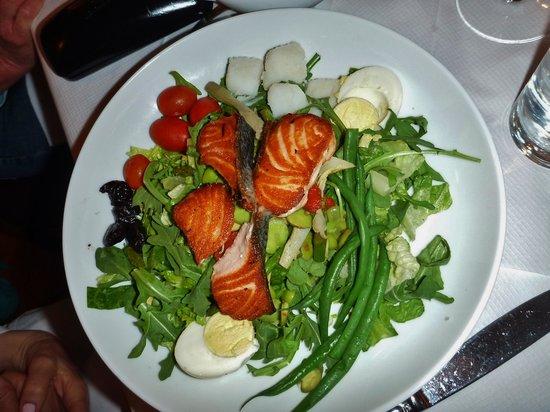 Bond 45 Italian Kitchen Steak & Seafood: Salmon salad