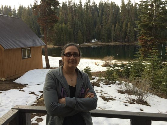 Montecito Sequoia Lodge & Summer Family Camp: View of Lake from the room patio