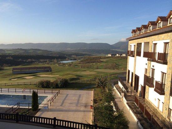 Hotel Real Golf & Spa Badaguás Jaca: desde la habitacion