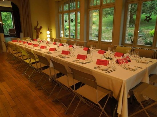 Le Clos Jeannon : Table du diner