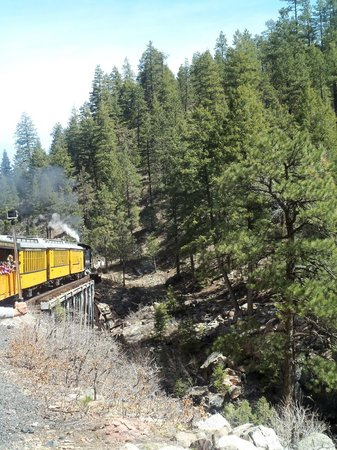 Durango and Silverton Narrow Gauge Railroad and Museum: Riding over a trestle