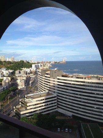 Bahia Othon Palace: Vista cidade do apartamento no 12º andar.