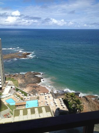 Bahia Othon Palace: Vista do apartamento no 12º andar.