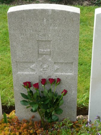 Lijssenthoek Military Cemetery : The grave of my Great Great Uncle Ernest MARLOW