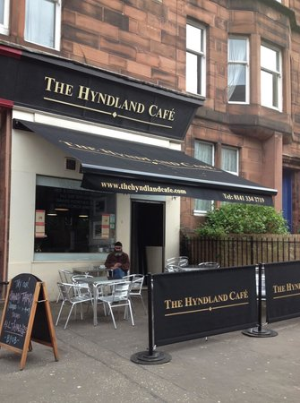 Hyndland Cafe Our new canopy/pavement signage and outside seating for up to 20 & Our new canopy/pavement signage and outside seating for up to 20 ...