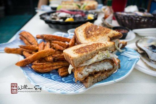 Fish House Restaurant: Grouper reuben