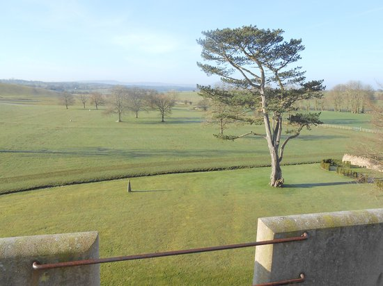 Hellifield Peel Castle: view from the appartment terrace